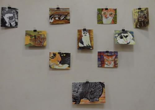 Some of Danettes paintings.
