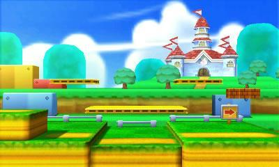 A Super Mario 3D Land stage in Super Smash Bros 3DS