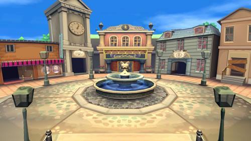 Animal Crossing stage in Super Smash Bros Wii U and 3DS