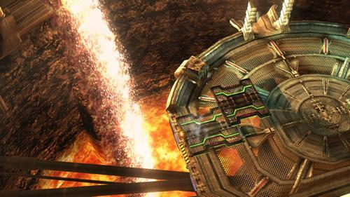 A Pyrosphere stage in Super Smash Bros U and 3DS inspired by Metroid Other M