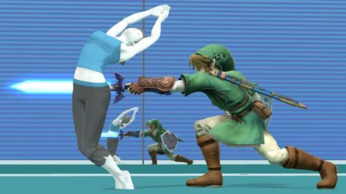 A Wii Fit styled stage in Super Smash Bros U and 3DS