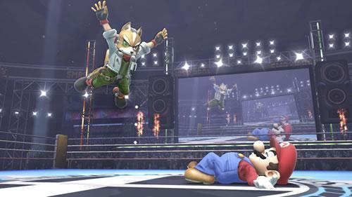 A WWE Wrestling styled stage in Super Smash Bros U and 3DS