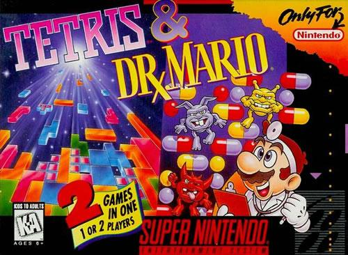 Tetris and Dr. Mario combo cart for the SNES