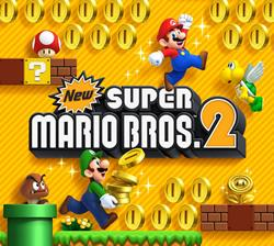 New Super Mario Bros. 2 title screen on the Nintendo 3DS