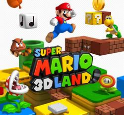 Super Mario 3D Land title screen