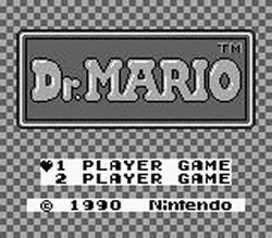 Dr. Mario Gameboy title screen