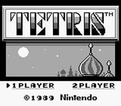 Tetris title screen for Game Boy