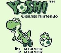 Yoshi (game) for the Game Boy title screen