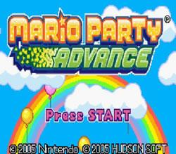 Mario Party Advance title screen