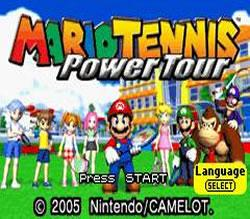 Mario Tennis Power Tour title screen