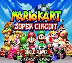 Mario Kart Super Circuit title screen