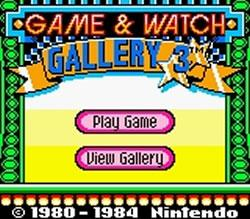Game & Watch Gallery 3 title screen