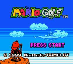Mario Golf for Game Boy Colour