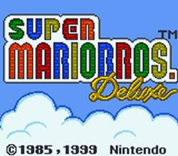 Super Mario Bros. Deluxe title screen