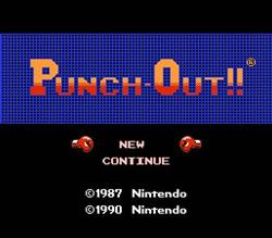 Punch Out NES title screen