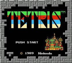 Tetris for NES title screen