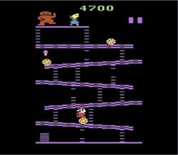 A screenshot from Donkey Kong on the Atari 2600