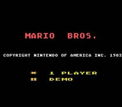 Mario Bros Atari 5200 title screen