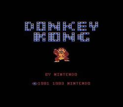Donkey Kong Atari 800 title screen
