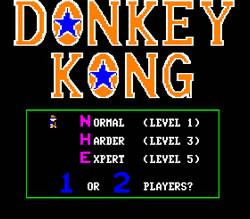 Donkey Kong Apple II version title screen