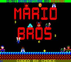 Mario Bros Amstrad CPC title screen