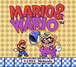 Mario & Wario title screen