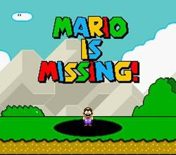 Mario is Missing titlescreen SNES version