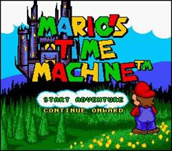 Mario's Time Machine SNES title screen