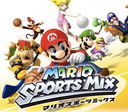 Mario Sports Mix titlescreen