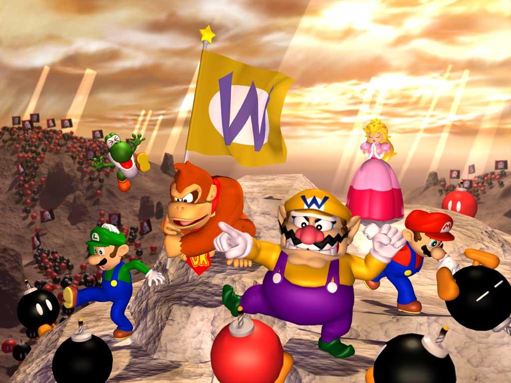 Desktop Wallpaper from Super Mario Games on the Nintendo 64