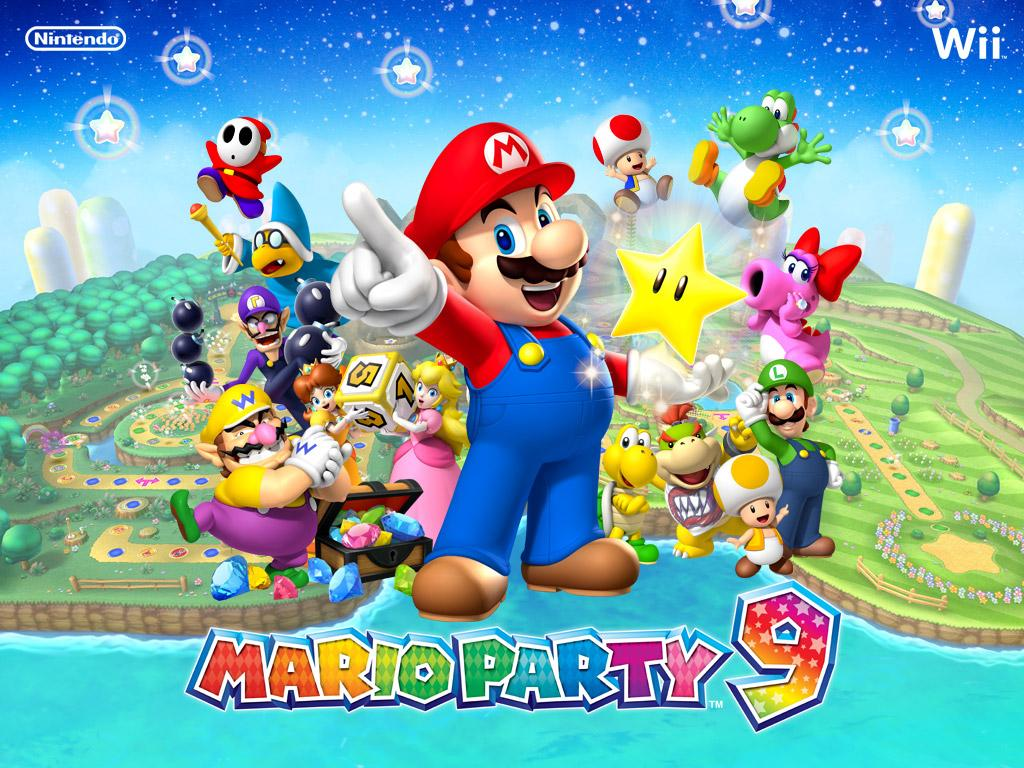Desktop wallpaper from super mario games on the wii mario party group 1 voltagebd Images