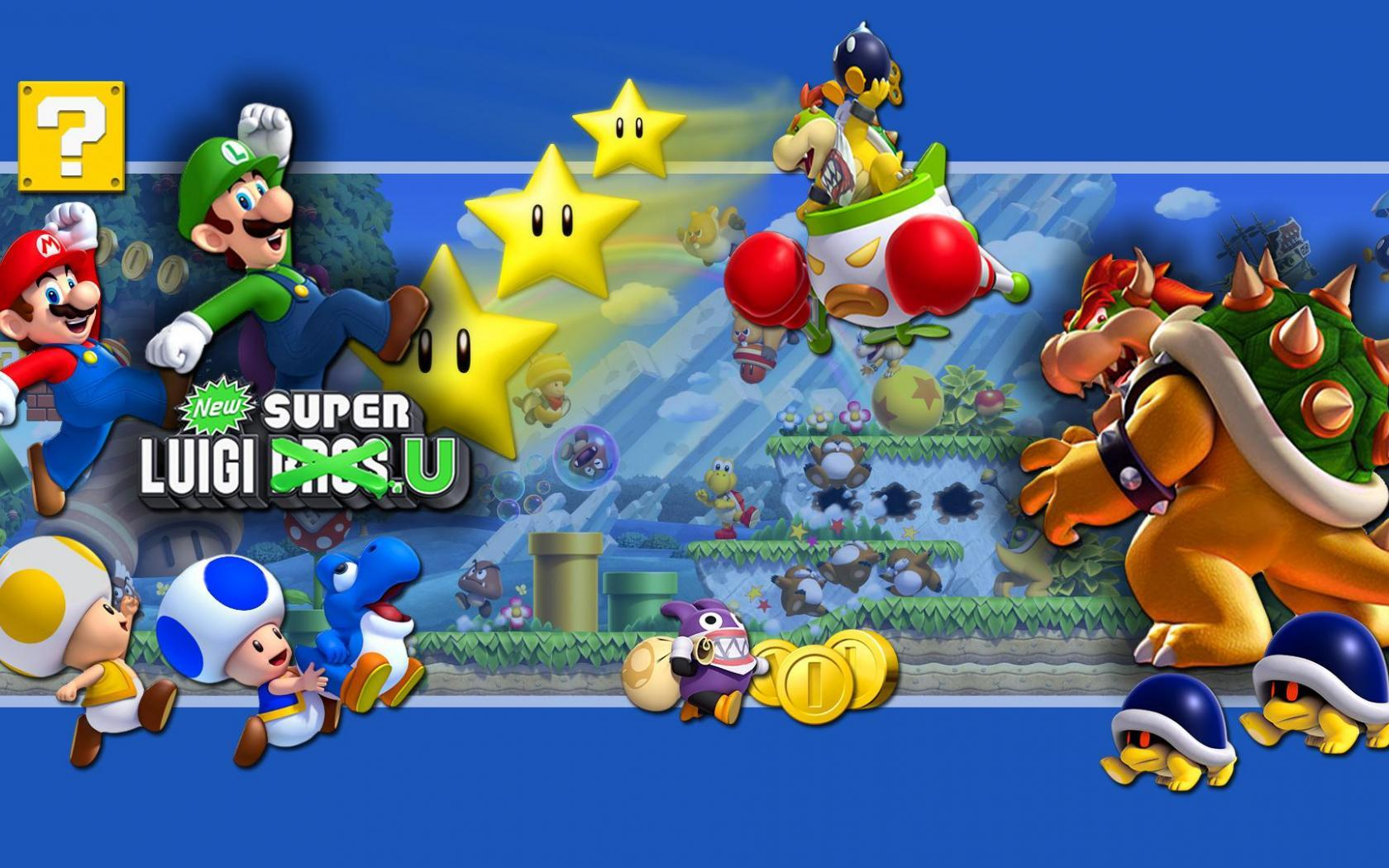 Super mario desktop wallpaper wii u new super luigi u wallpaper 2 wide altavistaventures Gallery
