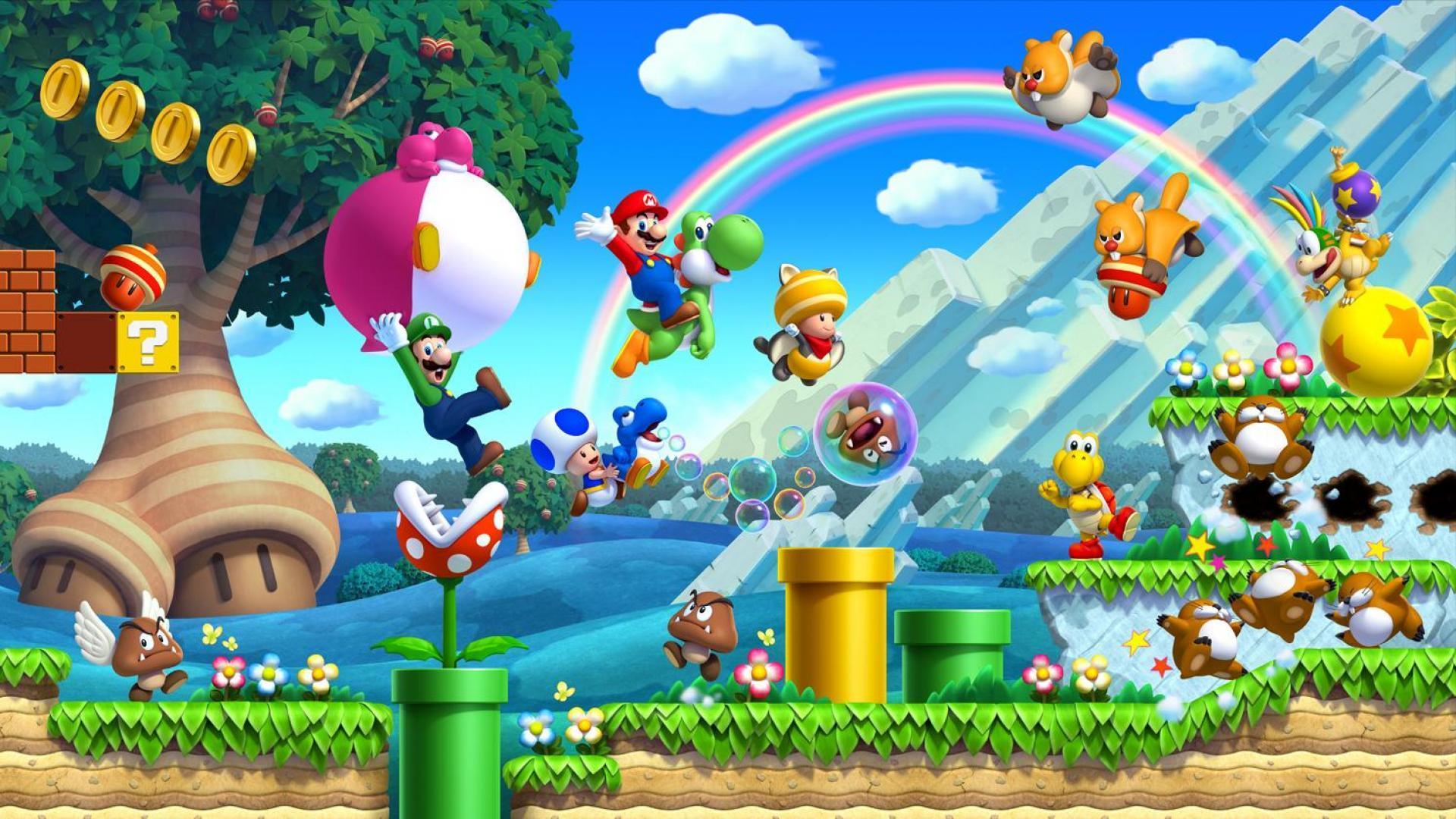 Mario Desktop Backgrounds: Super Mario Desktop Wallpaper (Wii U