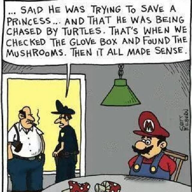 Mario gets his ass busted (Not literally)