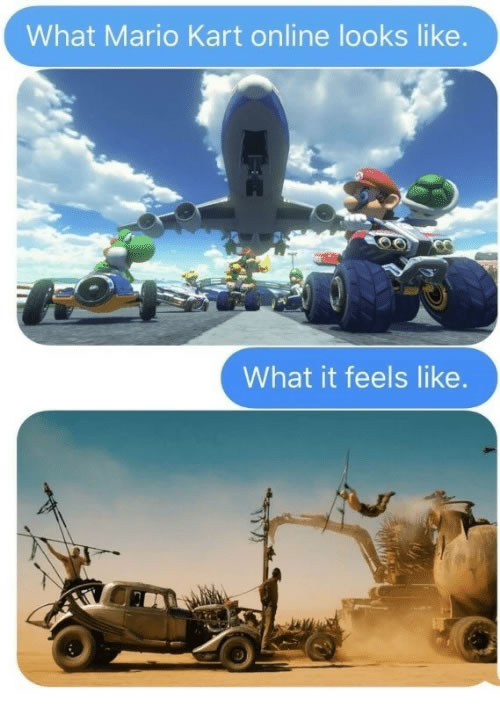 What Mario Kart Online looks like vs What it feels like