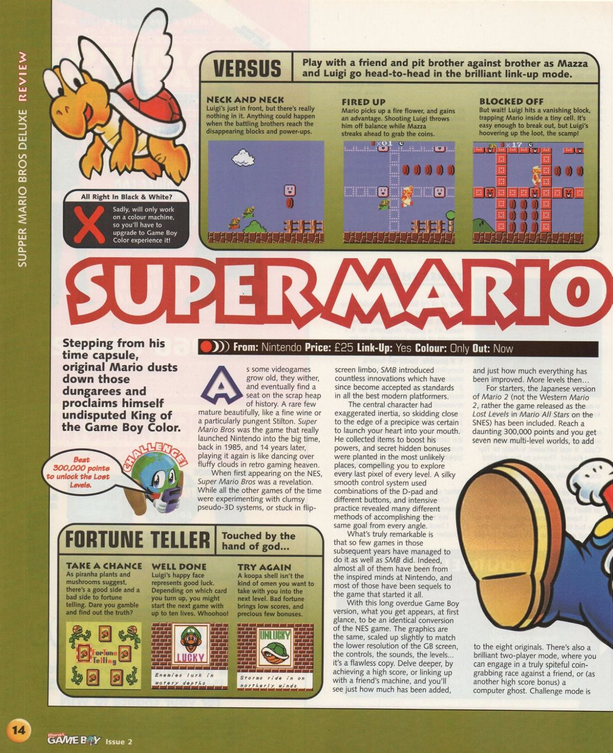 Super Mario Bros  Deluxe Review: Planet GB Issue 2