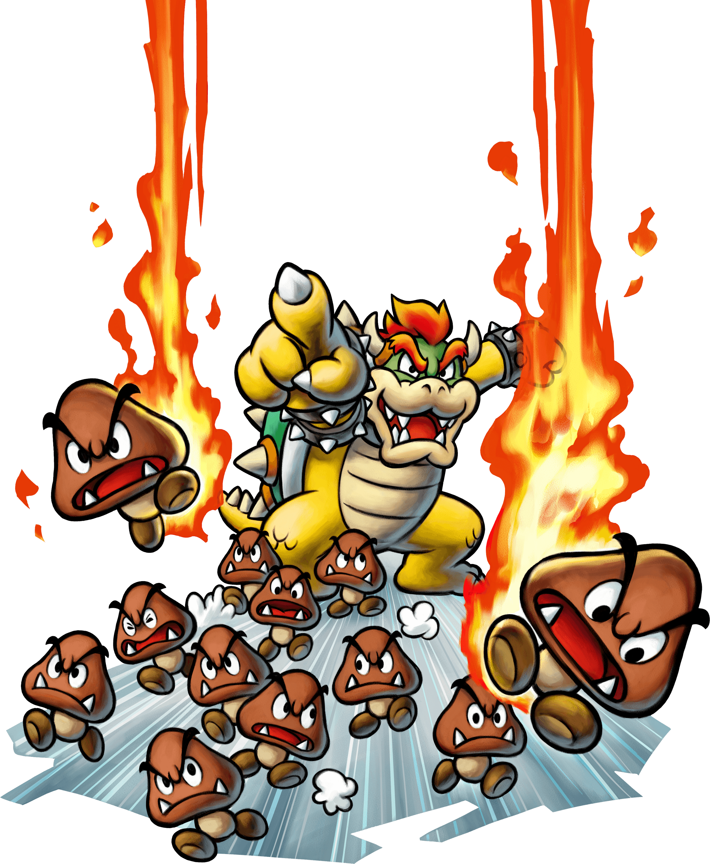 Mario Luigi Bowsers Inside Story Ds Artwork Including Enemies