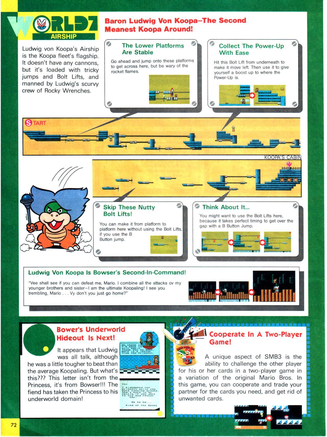 Super Mario Bros  3 Full guide in Nintendo Power Vol  13