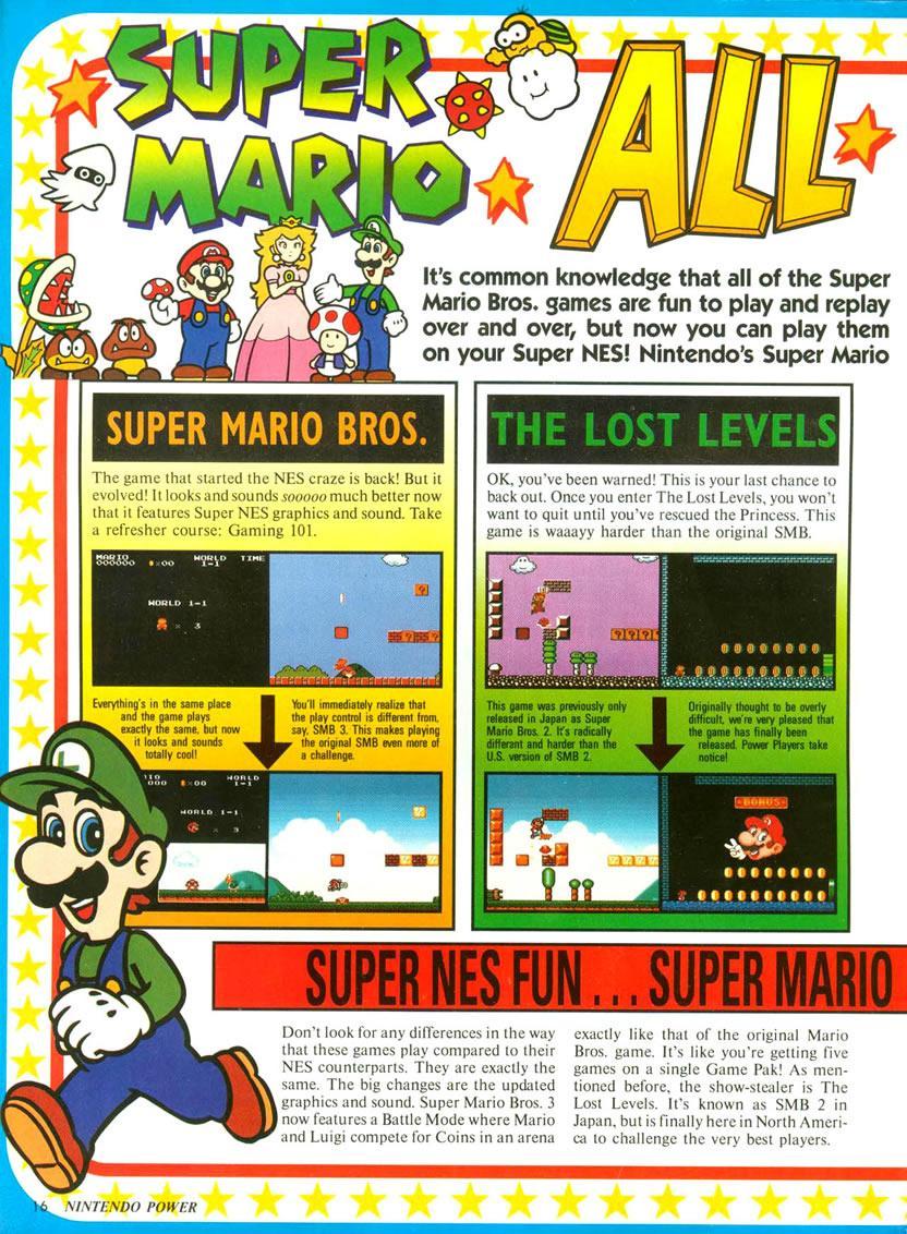 Super Mario Allstars feature in Nintendo Power Vol  52