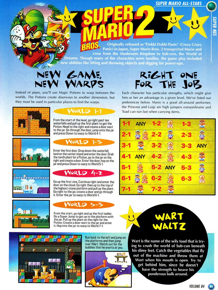Super Mario Allstars feature in Nintendo Power Vol  84