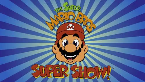 Super Mario Bros. Super Show logo and header image